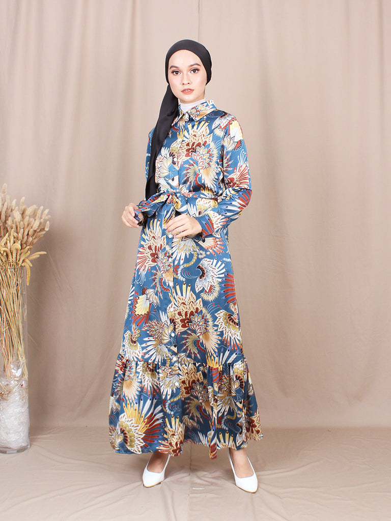 WESTERN LONG DRESS BD219