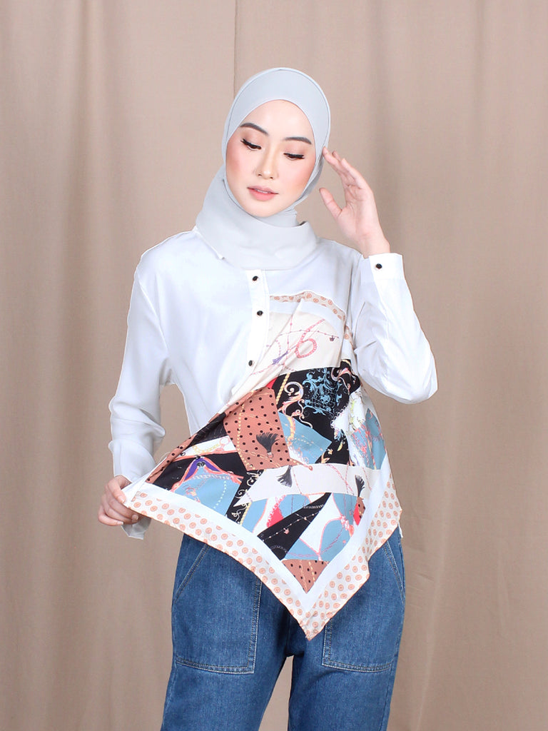 MUZI PATTERN PRINTED SHIRT BT805