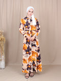 SUMMER FLORAL LONG DRESS BD230 XL
