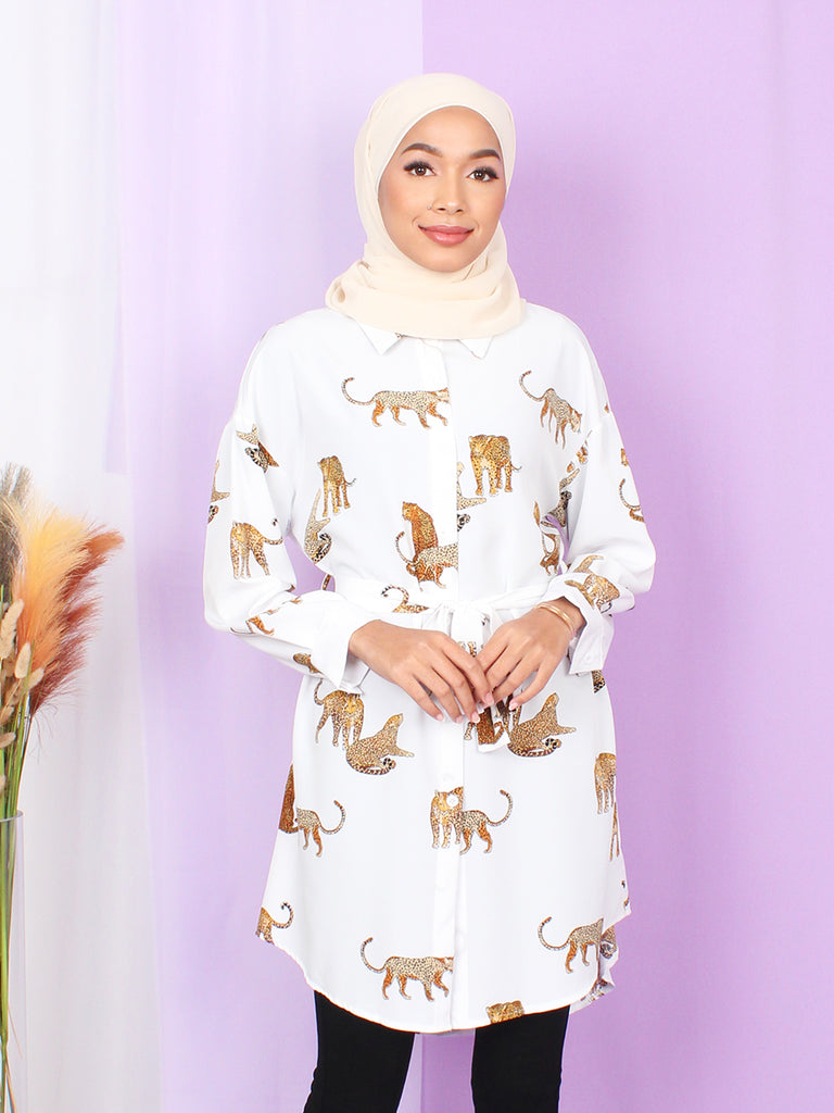 CHEETAH PATTERN TUNIC BT908