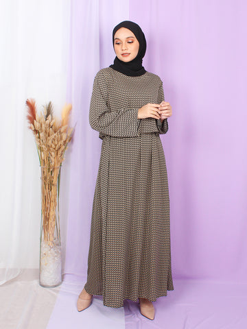 TWILL CROP LAYERED DRESS BD257