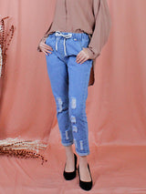 BLUE RIPPED JEANS BP066