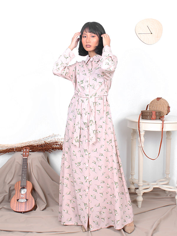 MAJOR FLOWER BUTTON DRESS BD195