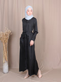 DRAWSTRING PLAIN DRESS BD242