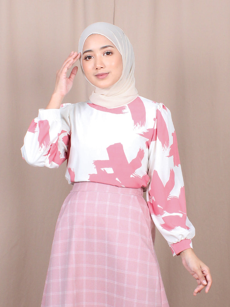 AESTHETIC PATTERN BLOUSE BT873