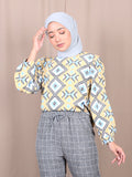 GEOMETRIC COLORFUL BLOUSE BT876