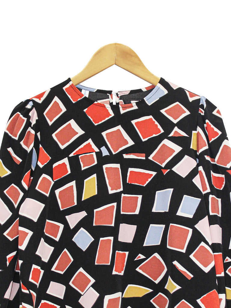 TRENDY ABSTRACT BLOUSE BT877