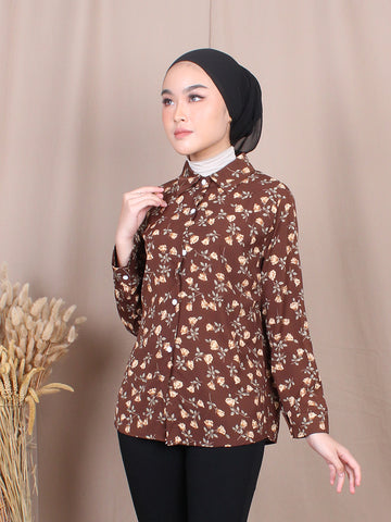 TULIPS FLOWER BLOUSE SHIRT BT751