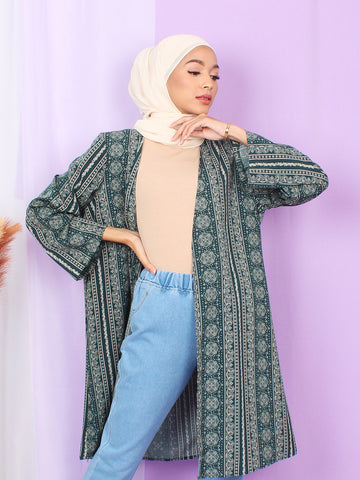 FLORAL PAISLEY CARDIGAN BJ26