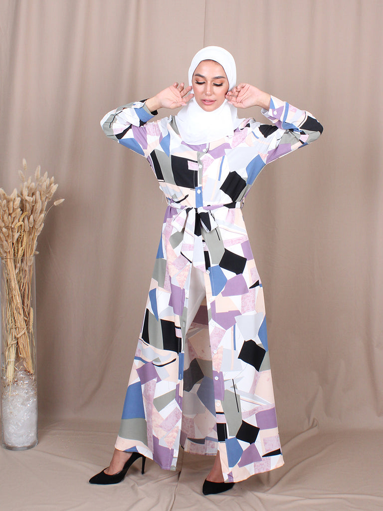 BOLD PAINT LONG DRESS BD241 M