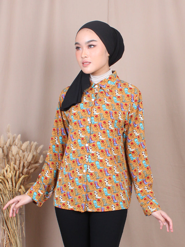 VINTAGE BOOTS BLOUSE SHIRT BT693