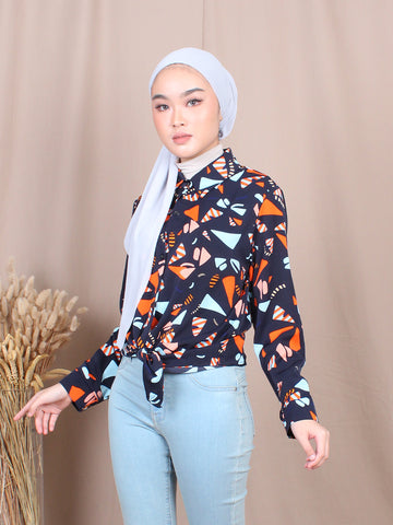 CANDY CORN BLOUSE SHIRT BT753