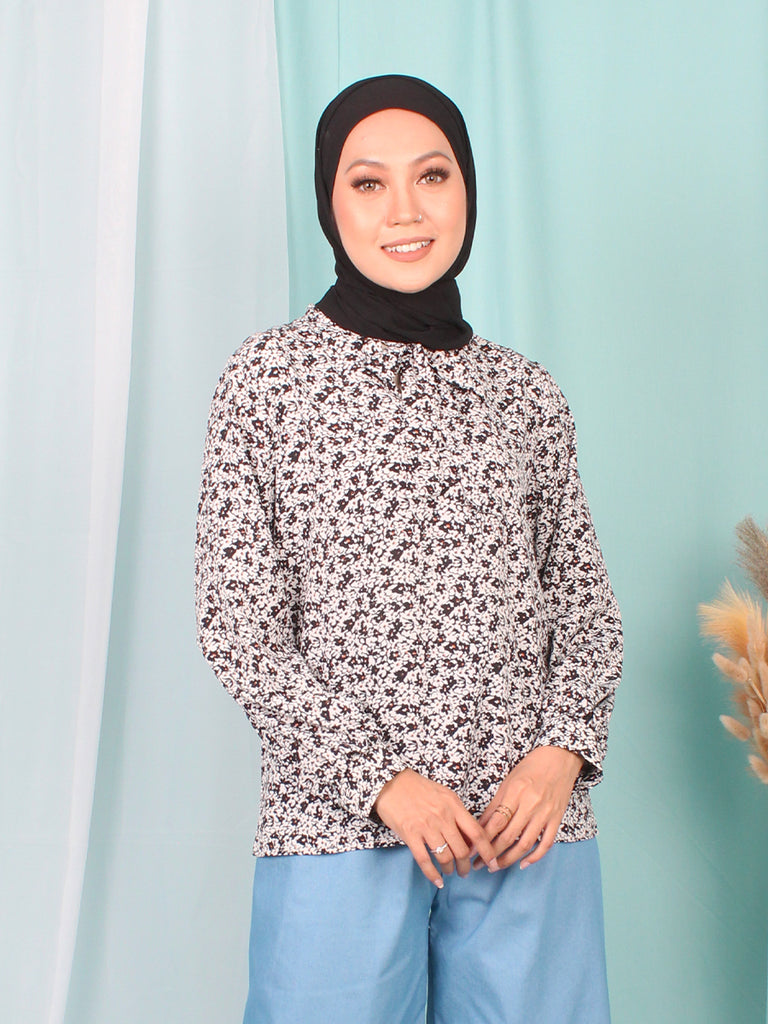 SEAMLESS TIE NECK BLOUSE BT942