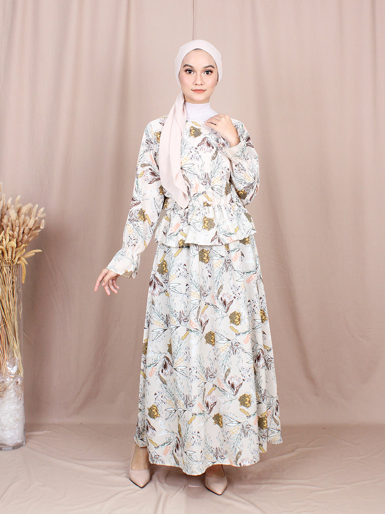 VICTORIAN LAYERED LONG DRESS BD208