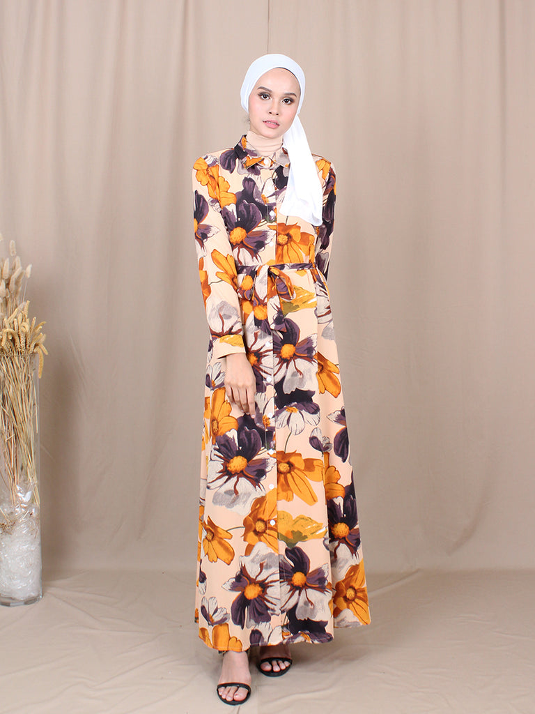 SUMMER FLORAL LONG DRESS BD230 M