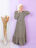 CHEVRON PATTERN LONG DRESS BD266