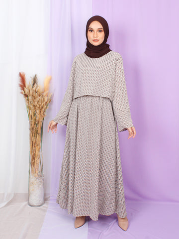 LAURA CROP LAYERED DRESS BD255