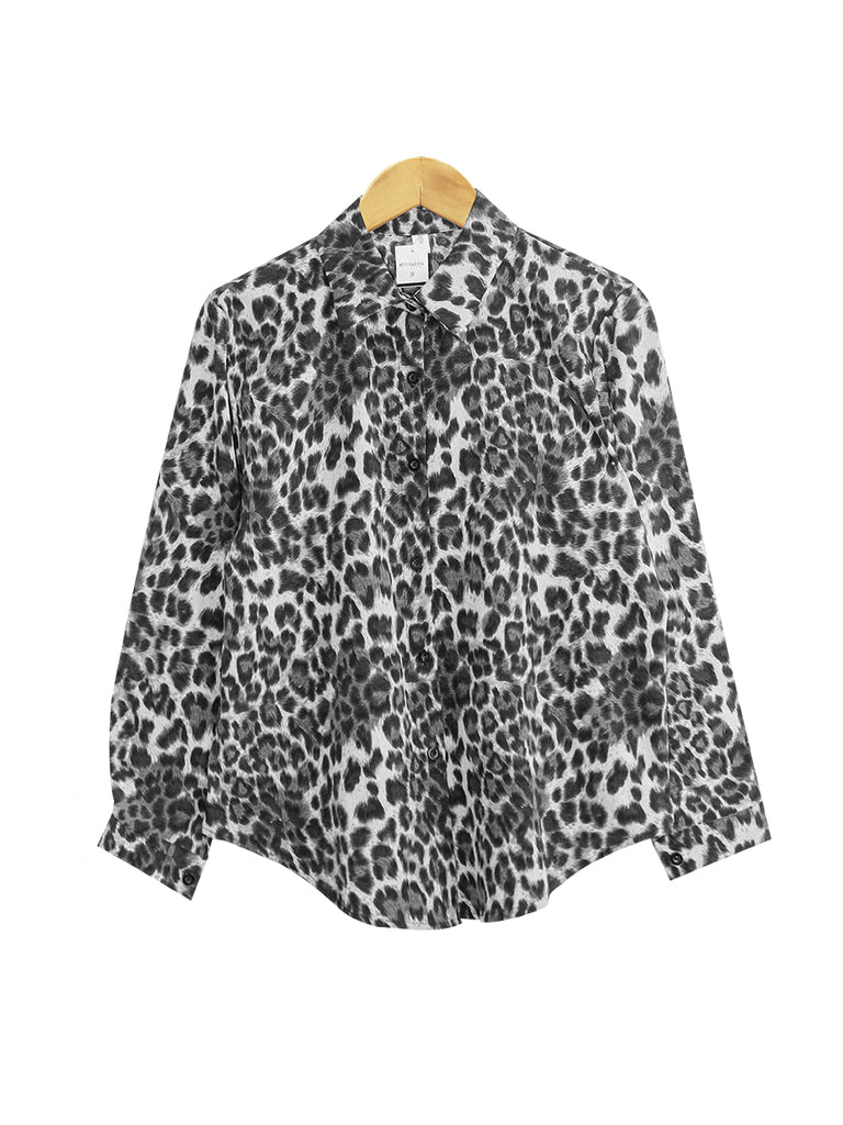 LEOPARD BLOUSE SHIRT PLUS BT913