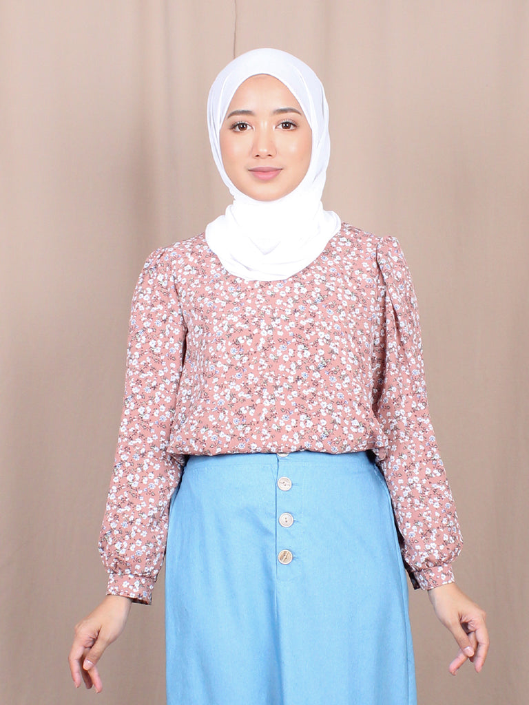 POPLIN FLOWER BLOUSE BT879