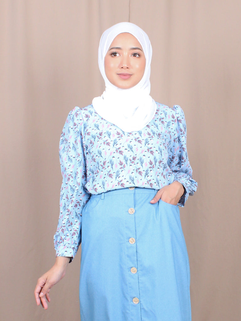 LEAF PATTERN BLOUSE BT880