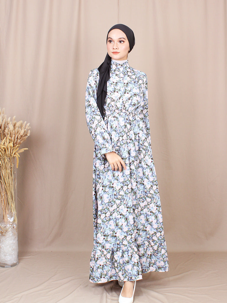 LIGHT FLORAL LONG DRESS BD213