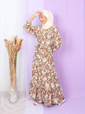 ANIMAL PATTERN LONG DRESS BD265