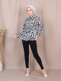 ZEBRA PATTERN BLOUSE SHIRT BT820