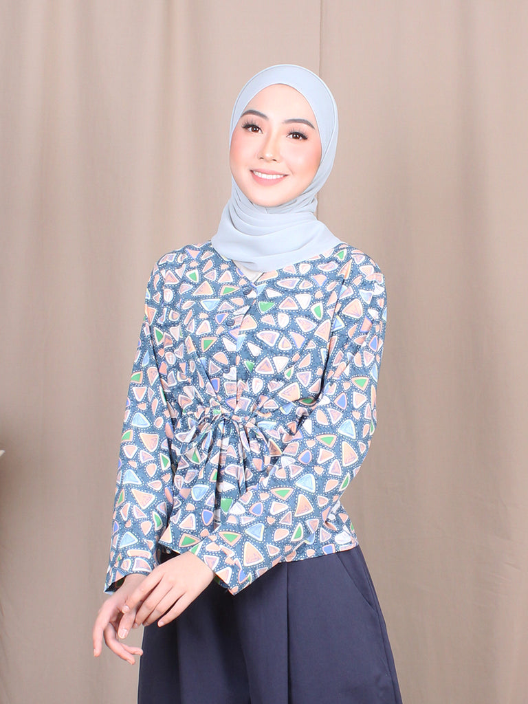 MINI TRIO PATTERN BLOUSE BT808