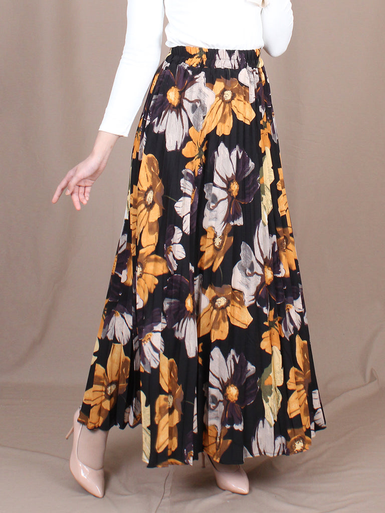 SUMMER FLORAL PLEATED SKIRT BS30