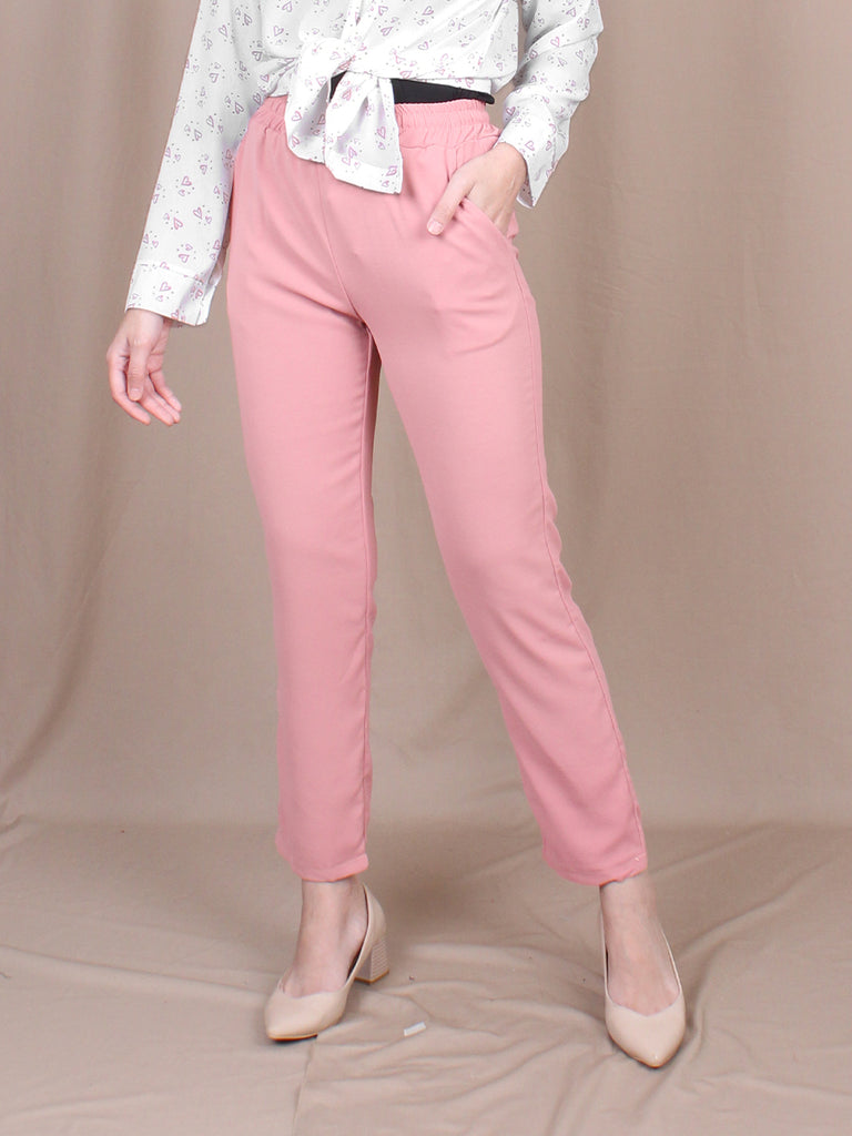 DEMI PANEL STRAIGHT PANTS BP069