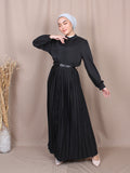 BASIC SEMI PLEATED DRESS BD248