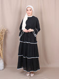 PLAIN LAYERED DRESS BD249