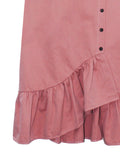 SIDE MINI BUTTON RUFFLE SKIRT BS22