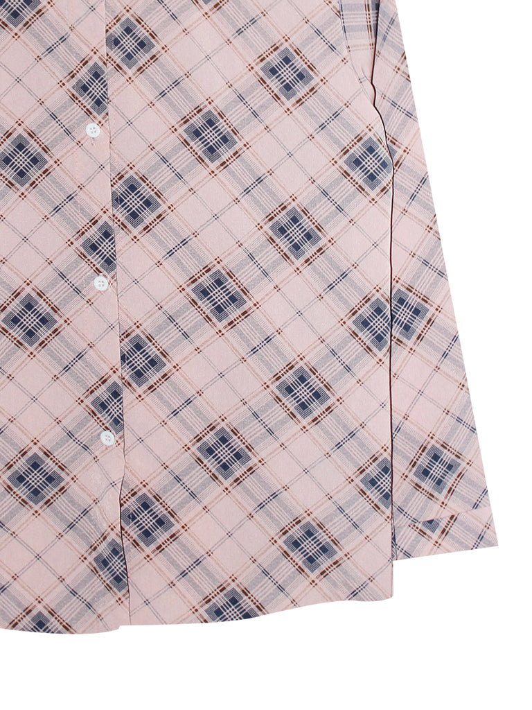 PLAID PATTERN BLOUSE SHIRT BT821