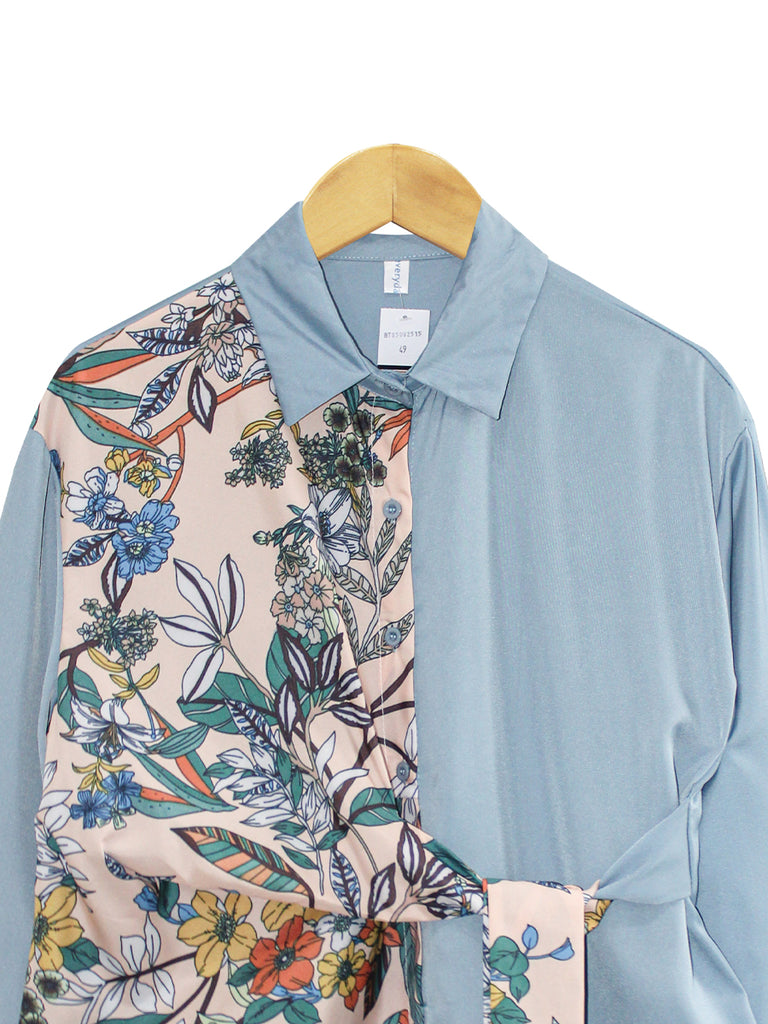 TROPICAL PATTERN TIE SHIRT BT850