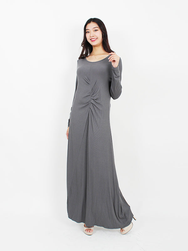 LONG SLEEVE TWIST WRAP DRESS BD135