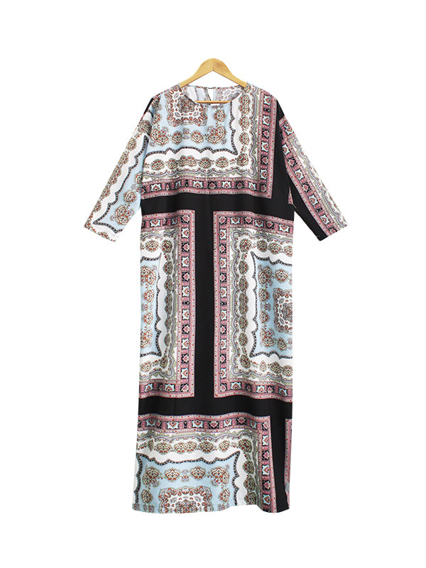 BLOCK PAISLEY PARIO DRESS BD197