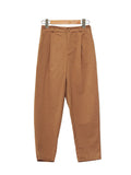 COTTON DENIM WIDE PANTS BROWN BP020
