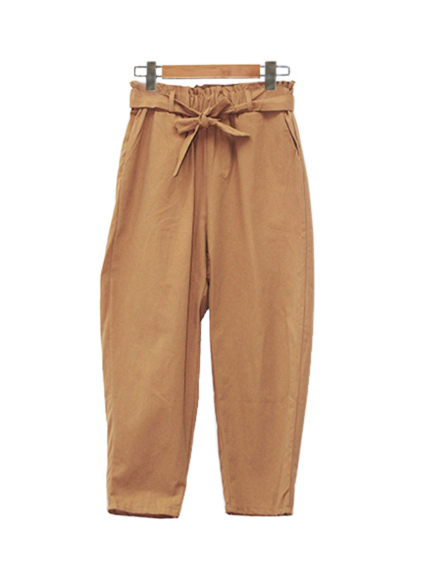 COTTON WIDE PANTS BROWN BP021