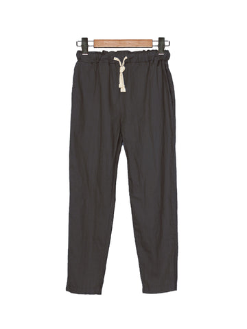 COTTON NEEDLED JOGGER PANTS BLACK BP024