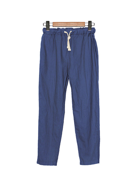 COTTON NEEDLED JOGGER PANTS BLUE BP024