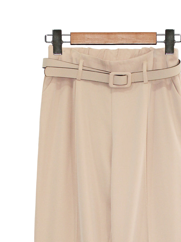 CONTRAST BELT CROPPED PANTS BP073