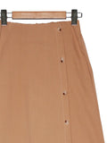 LONG WOVEN SIDE BUTTON SKIRT BS27