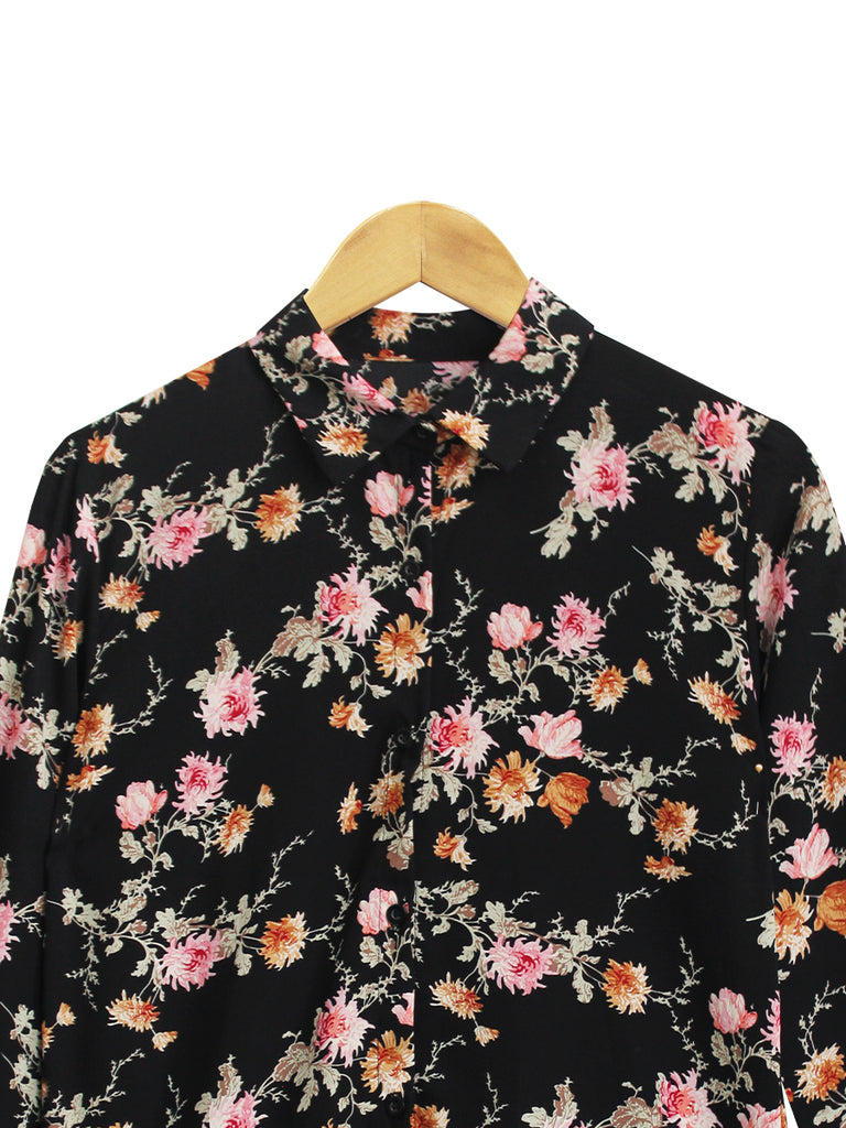 LIGHT FLORAL BLOUSE SHIRT BT710