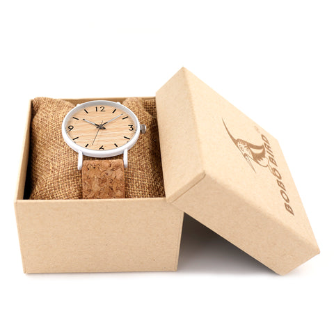 Luxury Watch Wood and Cork