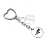 Stainless Steel Vegan Keychain