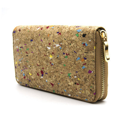 Natural Cork Zipper Purse