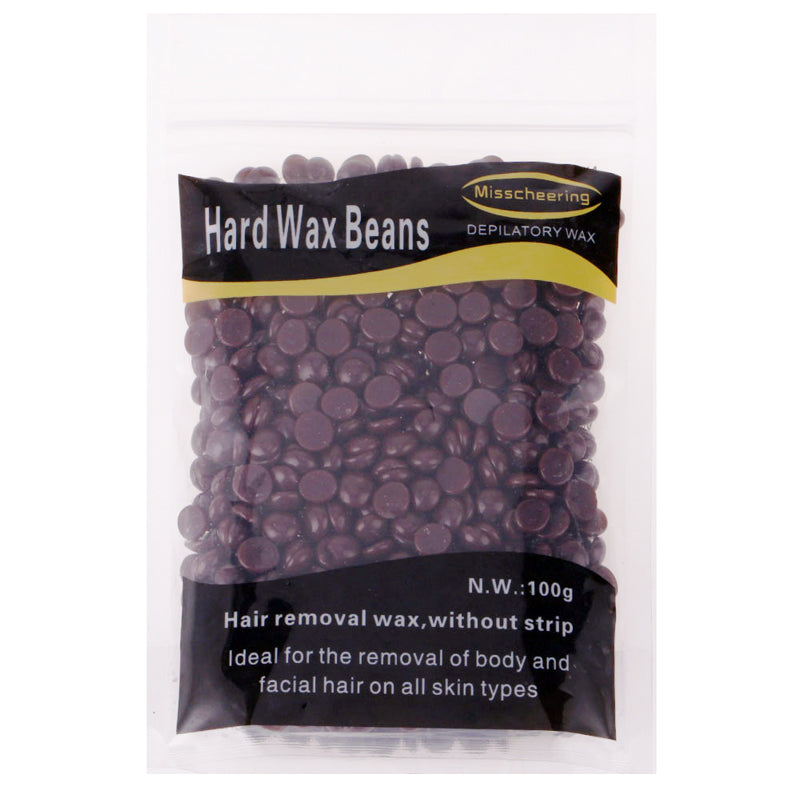 100g Depilatory Hot Film Hard Wax Beans Pellet for Hair Removal Chocolate Flavor - My Beauty Line