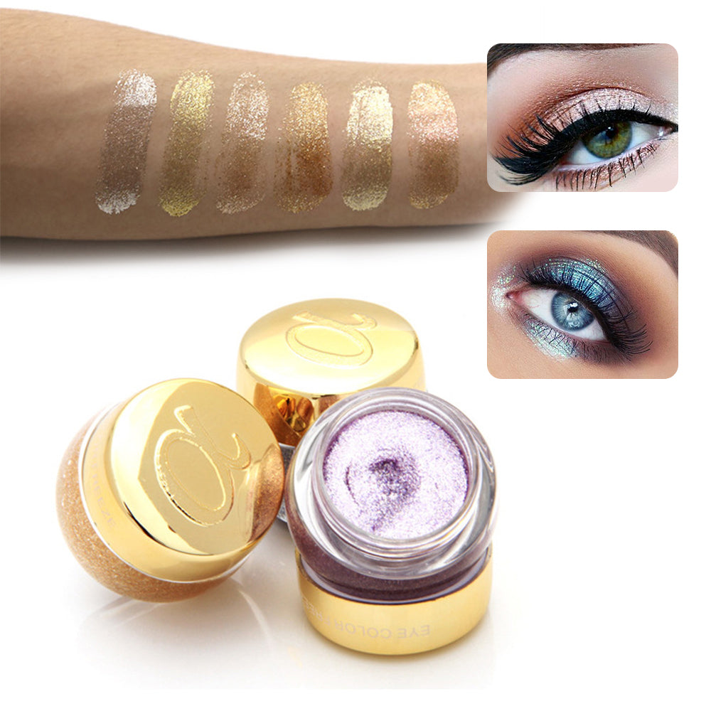 Single Glitter Eye Shadow Gel Party Metallic Eyeshadow - My Beauty Line