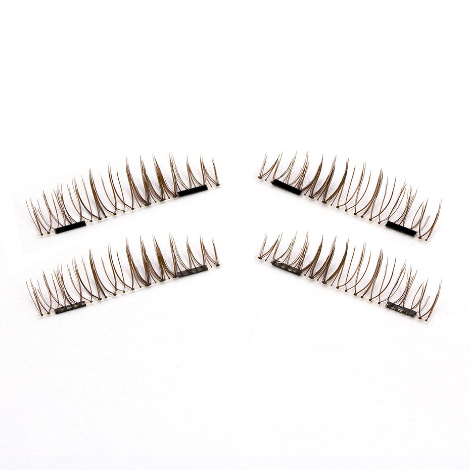 Genailish False Eyelashes 6D Magnetic Lashes Double Magnet Fake Eye Lashes Hand Made Strip Lashes cilios posticos KS02-S - My Beauty Line
